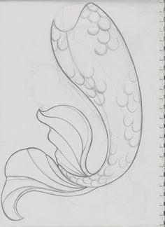Simple Mermaid Tail Drawing : simple, mermaid, drawing, Mermaid, Tails, Ideas, Tails,, Mermaid,, Silicone