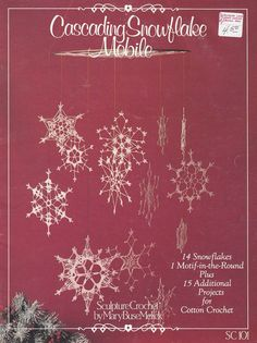 Snowflakes Crochet Patterns Cascading Snowflake Mobile