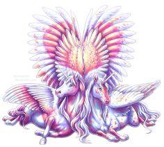 Pegasus love by BronzeHalo.deviantart.com on @DeviantArt