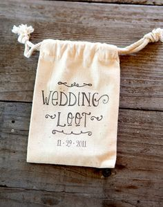 Custom Canvas Wedding Favor or Welcome Bags Set of by porfavour110, $50.00