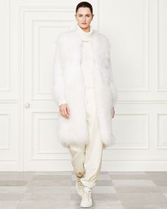 Shearling Elizabeth Coat - Collection Apparel Outerwear - RalphLauren.com