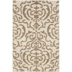 Ultimate Cream/ Beige Shag Rug (3'3 x 5'3)