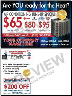 Energy Efficient Home Upgrades in Los Angeles For $0 Down -- Home Improvement Hub -- Via - Create faster response to your Tune-Up special mailings with tiered pricing while building your Maintenance Contract business.     HVAC Spring Air Conditioning Tune-up Sales Postcard #3 | Value Printing