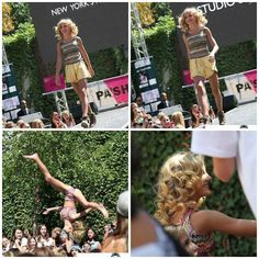Can we all just appreciate how scared that girl looks of paige doing her aerial