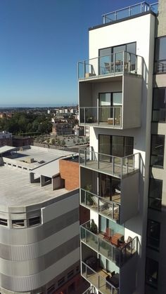 Box balconies in UHPC with a great outdoor area. Balconies, Concrete, Box, Outdoor, Verandas, Outdoors, Snare Drum, Balcony, Outdoor Games
