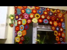 """How to Crochet the """"Flower Power Valance""""..Video 1 of 2 - YouTube"""