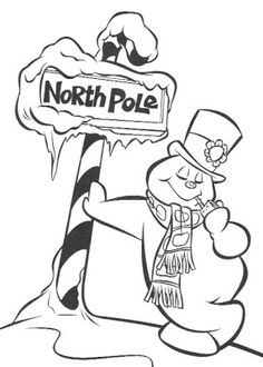 Snowman Coloring Pages, Coloring Book Pages, Printable Coloring Pages, Christmas Colors, Christmas Snowman, Christmas Crafts, Xmas, Christmas Coloring Sheets, Theme Tattoo