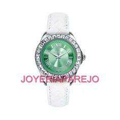 38174dcbf463 Reloj Mark Maddox Mujer MC3020-63 Verde Plateado y circonitas