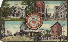 Downtown Hamilton 1913. Postcard mailed November 9, 1913.