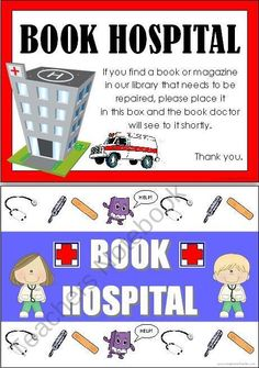 FREE Book Hospital Signs from Imaginative Teacher on TeachersNotebook.com (3 pages)