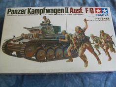 1970's Tamiya 1/35 Scale Military Panzer Kampfwagen II Ausf F-G Model by MyHillbillyWays on Etsy