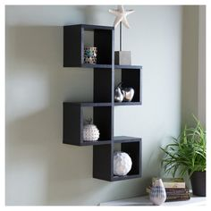 x Cubby Chessboard Wall Shelf Black - Danya B. Wall Bookshelves, Bookshelf Design, Wall Shelves Design, Display Shelves, Wall Design, Cubby Shelves, Shelving Units, Hanging Shelves, Unique Wall Shelves