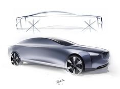 VOLVO CONCEPT SALOON \ Detailed exterior and interior design expressing Swedish design philosophy \Personal Project \ Date: November 2013 -March 2014 Car Design Sketch, Car Sketch, Adobe Photoshop, Swedish Design, Transportation Design, Automotive Design, Car Pictures, Concept Cars, Volvo