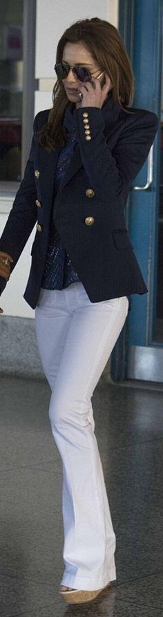 Cheryl Cole: Sunglasses – Ray Ban Jacket – Balmain - Street Fashion, Casual Style, Latest Fashion Trends - Street Style and Casual Fashion Trends Cheryl Cole Style, Cheryl Ann Tweedy, Cheryl Fernandez Versini, Balmain Blazer, Military Chic, Love Jeans, Stylish Eve, Ray Ban Sunglasses, Sunglasses Outlet