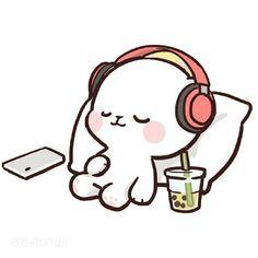 Cute Anime Cat, Cute Bunny Cartoon, Cute Cartoon Images, Cute Love Cartoons, Cute Cartoon Wallpapers, Chibi Cat, Cute Chibi, Cute Profile Pictures, Cute Pictures