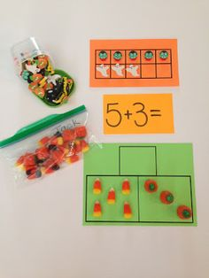 Addition and Subtraction activities & worksheets: Fall, Pumpkins, Halloween math printables. {FREE}