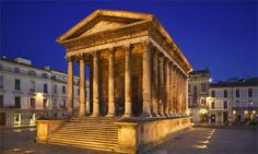 Nimes, France. One of the most beautiful cities in France.