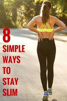 8 Simple ways to stay slim