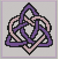 Cross Stitch Pattern Triquetra Craft Celtic Symbol Irish Unity PDF Download…