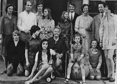 Duke Roberto I of Parma, and his family of 24 children