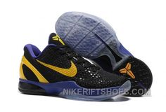 finest selection f651c 65f0f Nike Zoom Kobe 6 Black Purple Yellow Basketball Shoes Christmas Deals  Rf3xh, Price 89.00 - Nike Rift Shoes