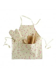ODETTE WILLIAMS Apron Set / Pink Stars