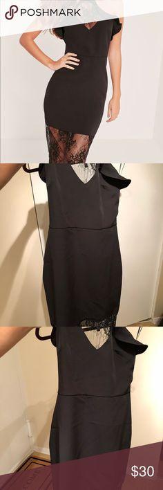Misguided midi black dress 🖤 the perfect little black dress, brand new, lace, midi dress 🖤 misguided Dresses Midi