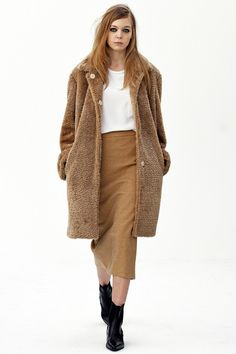 Cozy & Comfy Neutral #Coat #Fashion#Trend forFall Winter 2013 I Organic by John Patrick #Fall2013 #AW2013 #Trendy #Color