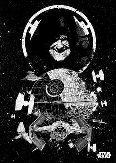 emperor palpatine darth sidious death star empire tie wars lucas pilots  StarWars