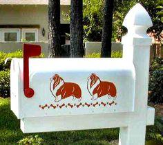Shetland Sheepdog Mailbox