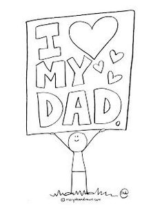 Fathers Day Printable Coloring Page