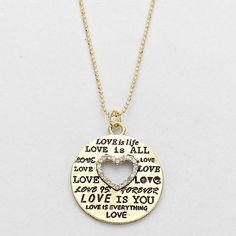 """BEAUTIFUL LOVE IS EVERYTHING NECKLACE  BEAUTIFUL LOVE IS EVERYTHING NECKLACE                                                 NECKLACE : 17"""" LENGTH WITH 3"""" EXT  PENDANT : 1"""" LENGTH Jewelry Necklaces"""