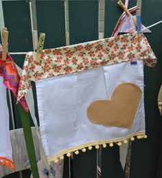 Flower Field Heart Girls Apron Size 6-8 by IvyandCompany on Etsy $28
