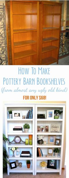 There are so many ugly bookshelves for cheap on Craigslist and with some paint and bead board I can have them look beautiful!