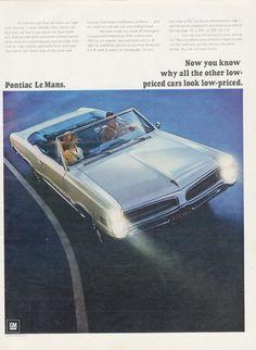 1966 Pontiac Le Mans Convertible Car Ad Classic by AdVintageCom