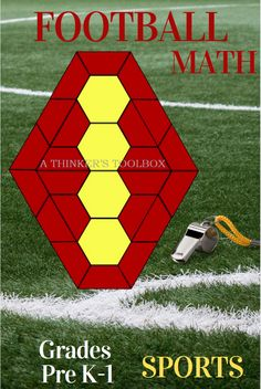Engage your students with this fun and creative way to learn about shapes and symmetry while exploring various types of sports. #football #basketball #soccer #volleyball #preschool #kindergarten #1stgrade #homeschool #math #sports 12th Maths, Primary Maths, Math Skills, Math Lessons, Learning Tools, Fun Learning, Sports Theme Classroom, Challenging Puzzles, Fall Cleaning