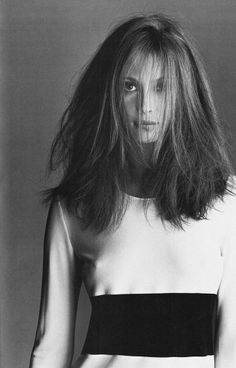 pinterest.com/fra411 #beauty - Christy Turlington with a lot of hair.