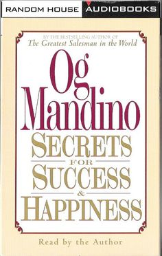 Famed inspirational speaker and author Og Mandino will transport you as you take an intimate and heartwarming peek into his life.Whether he's writing in his picturesque New Hampshire farmhouse or fl
