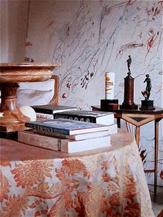 Fortuny in the Rome apartment of Cy Twombly, ca 1966