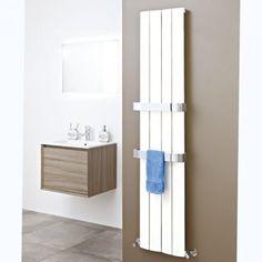Zodiac x White Designer Radiator - Contemporary Radiators - Heating Bathroom Radiators, Steam Showers Bathroom, Small Bathroom, Contemporary Radiators, Modern Radiators, Modern Radiator Cover, Bathroom Suppliers, Chrome Towel Rail, Full Bath