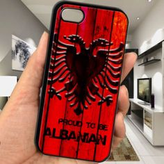 cheap Proud to be albanian albania flag wood pattern iphone 5 5s TPU case cover