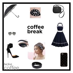 """""""Caffeine fix:Cofee Break"""" by harisberba-1 ❤ liked on Polyvore featuring beauty, Christian Louboutin, Dolce&Gabbana, Fulton, Kate Spade, Christian Dior, Swarovski and Too Faced Cosmetics"""