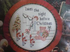 "NEW Christmas Tradition 7"" Round Cross Stitch Kit 1903 ~ Night Before Christmas #DesignsfortheNeedle"