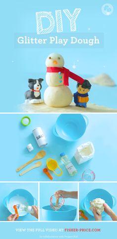 How to Make DIY Glitter Play Dough