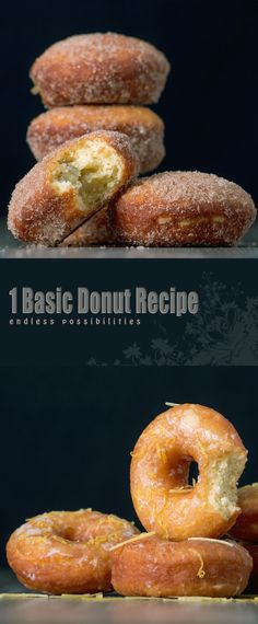 Basic Donut Recipe: A basic donut recipe unlocks a world of possibilities, glazed, powdered, filled, bright & frivolous or sophisticated and indulgent. What's your favourite?