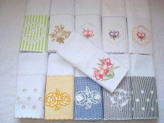 Toalhas de lavabo bordadas R$ 25,00