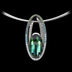 Shine Tourmaline Pendant by Adam Neeley. Shine Tourmaline Pendant by Adam Neeley. Blue Tourmaline, Tourmaline Jewelry, Sapphire Pendant, Diamond Pendant, Gold Pendant, Diamond Rings, Modern Jewelry, Fine Jewelry, Geek Jewelry