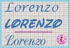 Bom dia!!!   Trazendo alguns Gráficos de nomes que eu fiz, uns são com monogramas q. eu criei, e outros das Fadinhas Dinha do Blog Dinha Po...