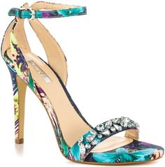 GUESS' Catarina' Ankle Strap Sandal in Floral Print