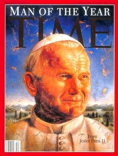 Pope John Paul II. TIME's Man of the Year. Fresco for TIME by Richard Selsnick and Nicholas Kahn.